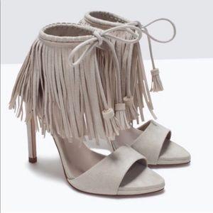 Zara Fringe Heels